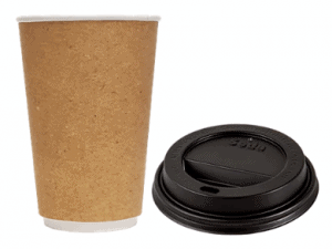 Seda Double Wall Kraft Hot Cup and Lid