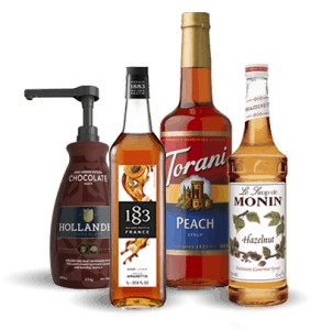 Specialty coffee syrups and sauces